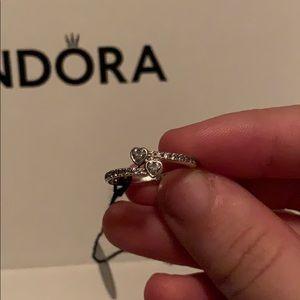 Two Hearts Pandora Ring